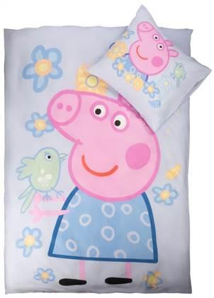 b100732aceb Gurli Gris sengetøj - Sengetøj med den glade gris - 100% bomuld - 140x200 cm