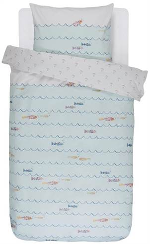 Junior sengetøj Covers & Co - 100x140 cm - 100% bomulds renforcé - Covers & Co Fishy multi