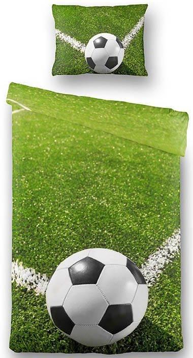 fodbold sengetøj Fodbold sengetøj 100% bomulds satin 140x200 cm fodbold sengetøj